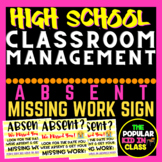 Absent Missing Work Sign