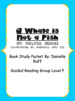 A Whale is Not a Fish Book Packet