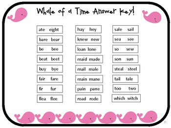A Whale of a Time With Homophones!