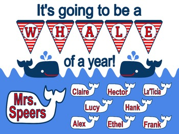 A Whale of a Year! Back to School Bulletin Board