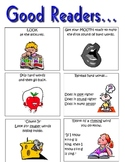 """A """"What do good readers do?"""" poster"""