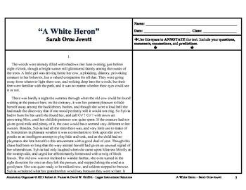 """A White Heron"" by Sarah Orne Jewett: Annotation Organizer"