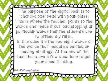 A Whole Class Choral-Cloze Reader