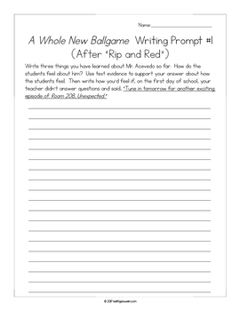 A Whole New Ballgame: 12 Writing Prompts and 12 Quizzes
