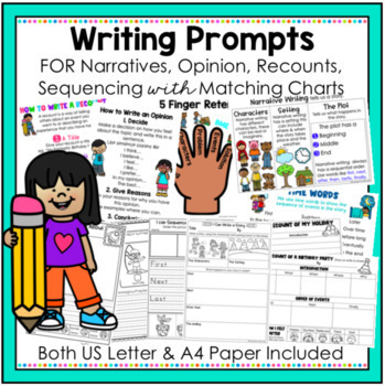 Writing Prompts - Narratives, Opinion, Recounts and Sequencing