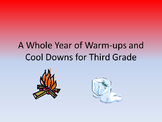 A Whole Year of Class Warm-ups and Cool Downs for Third Grade