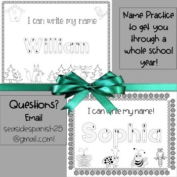 A Whole Year of CUSTOM ORDER Name Tracing Practice BUNDLE