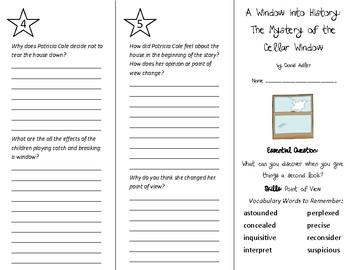 A Window Into History Trifold - Wonders 5th Grade Unit 4 Week 2