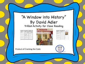 """""""A Window into History"""" Trifold Activity McGraw Hill Reading Wonders 5th Grade"""