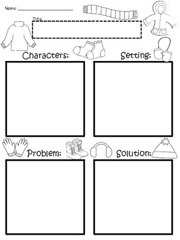 A+ Winter Clothing: Blank Story Maps