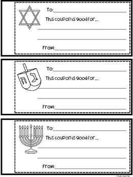 A+ Hanukkah (Chanukah) Coupons: Booklet