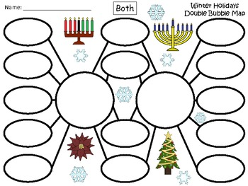A winter holidays double bubble maps by regina davis tpt a winter holidays double bubble maps publicscrutiny Gallery