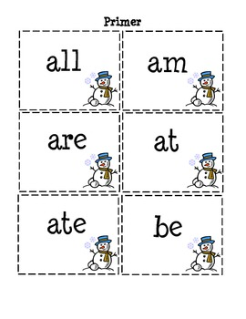 A Winter Wonderland of Sight Words