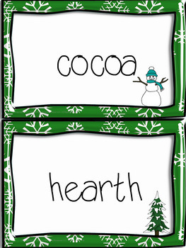 A Winter Word Wall English Language Arts