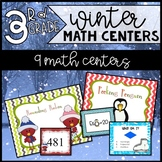 Winter Math Centers for 3rd Grade