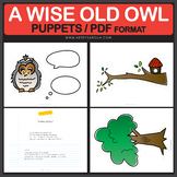 A Wise Old Owl Nursery Rhyme POEM and PUPPETS