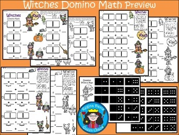 A+ Addition Witches: Domino Math