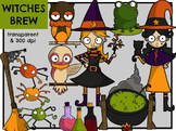 Witches Brew - Spiderwebs & Potions (Digital Clip Art)