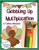 A Gobbling Up Multiplication Windsock