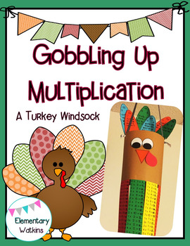 A Gobbling Up Multiplication Windsock