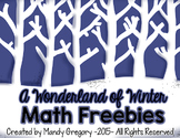 A Wonderland of Winter Math Freebies (Open Number Line)