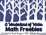 A Wonderland of Winter Math Freebies (Open Number Line)