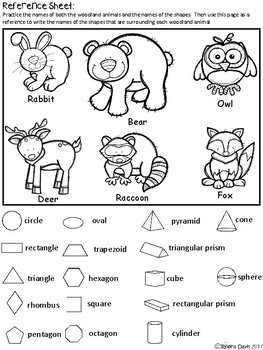 A+ Woodland Animals and Math Shapes
