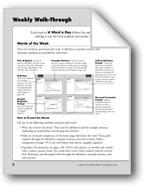 A Word A Day: Teacher Directions, Grade 4