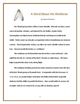 A Word About the Wishbone
