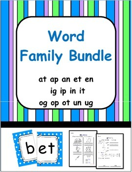 CVC Word Families:  Sort, Read and Write
