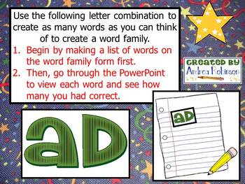 """A"" Word Family Bundle"