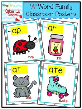 """""""A"""" Word Family Classroom Posters"""
