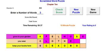 A Word Puzzle Review Activity - Classroom License  A Pinkley Product