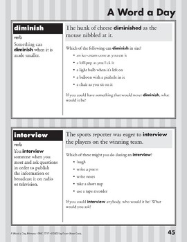 A Word a Day: Advertise, Convince, Diminish, Interview