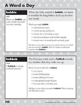 A Word a Day: Babble, Hubbub, Ancestor, Quarrel