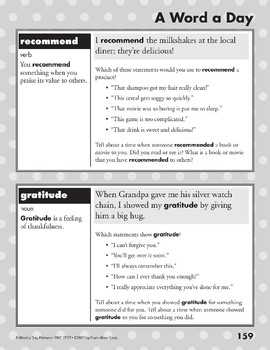 A Word a Day: Boost, Barrier, Recommend, Gratitude