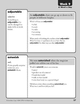 A Word a Day, Grade 3