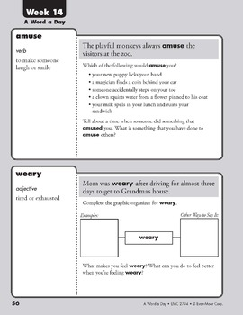 A Word a Day, Grade 4