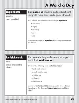 A Word a Day: Hazardous, Ventriloquist, Ingenious, knickknack