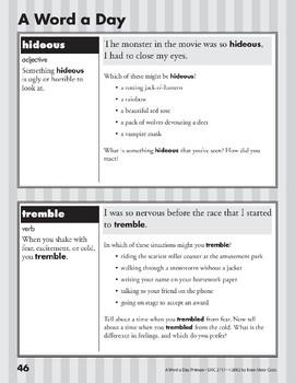 A Word a Day: Hideous, Tremble, Volume, Famous