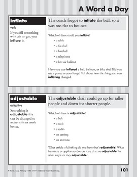 A Word a Day: Independent, Refuse, Inflate, Adjustable