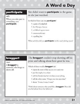A Word a Day: Inhabit, Identical, Participate, Braggart