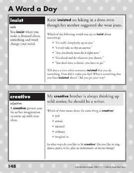 A Word a Day: Insist, Creative, Flexible, Demolish
