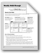 A Word a Day: Teacher Directions, Grade 3