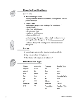 A Word in the Hand: 25 Sign Language Lessons, Over 700 Vocabulary Words
