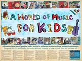 A World Of Music - Poster For Kids (Seek And Find 30 Instruments)
