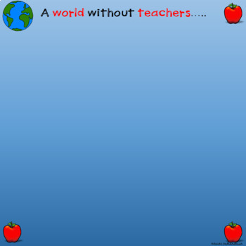 A World Without Teachers Class Book in Google Slides™
