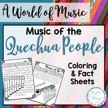 A World of Music, Quechua People Fact Sheets