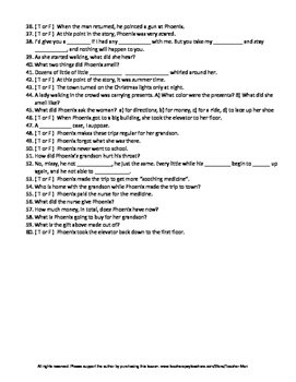 A Worn Path by Eudora Welty Complete Guided Reading Worksheet