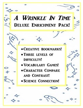 A Wrinkle In Time Deluxe Enrichment Pack! Crafts, Science and More!